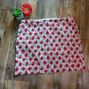 💛 Pink Poppy Floral mini skirt SIZE 6